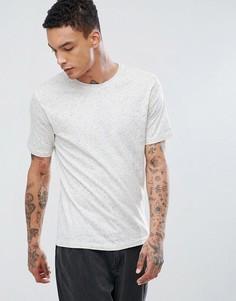 Меланжевая футболка Troy - Белый