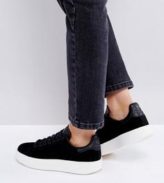 Черные кроссовки из нубука на толстой подошве adidas Originals Stan Smith - Черный