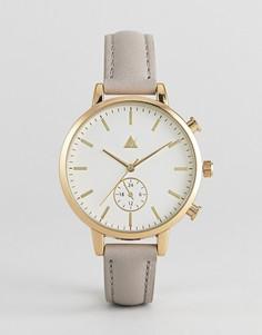 Часы с кожаным ремешком ASOS - Коричневый