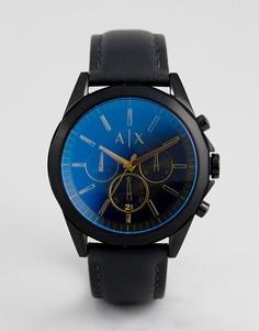 Часы с черным кожаным ремешком Armani Exchange AX2613 - Серый