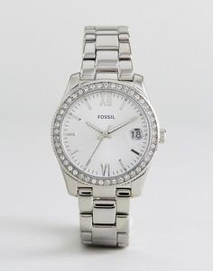 Серебристые часы-браслет Fossil ES4317 Scarlette - Серебряный
