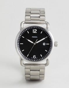 Серебристые часы Fossil FS5391 - Серебряный