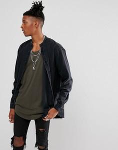Свободная джинсовая рубашка ASOS - Черный