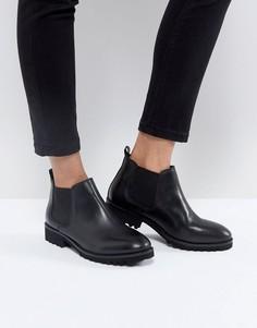 Кожаные ботинки челси ASOS ANALISE - Черный