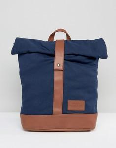 Темно-синий рюкзак с закатанным верхом Dead Vintage - Синий