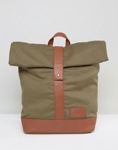 Рюкзак цвета хаки с закатанным верхом Dead Vintage - Зеленый