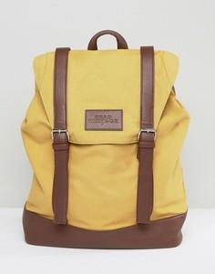 Рюкзак горчичного цвета с пряжками Dead Vintage - Желтый