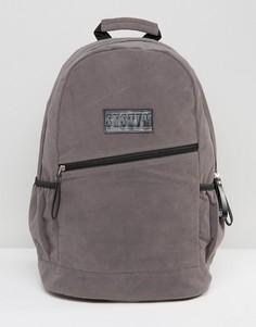 Серый рюкзак из искусственной замши Systvm - Серый