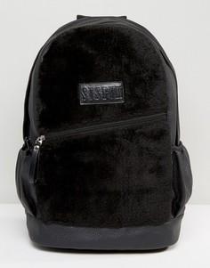 Черный рюкзак из искусственной замши Systvm - Черный