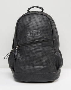 Черный рюкзак с перфорацией Systvm - Черный