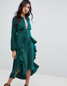 Платье миди The Jetset Diaries Songbird - Зеленый