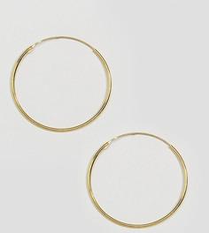 Позолоченные серьги-кольца диаметром 35 мм Kingsley Ryan - Золотой