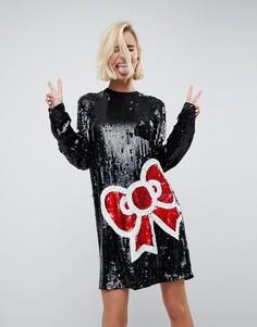 Платье мини с пайетками Hello Kitty X ASOS - Мульти