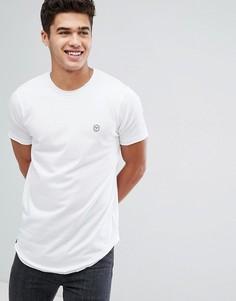 Длинная футболка с необработанным краем Le Breve - Белый