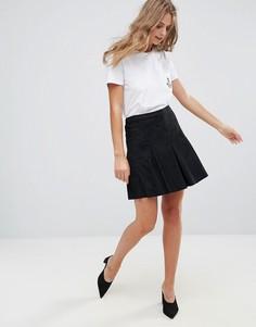 Плиссированная мини-юбка Minimum - Черный