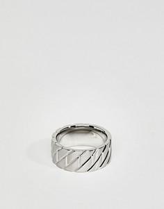 Кольцо из нержавеющей стали Emporio Armani - Серебряный
