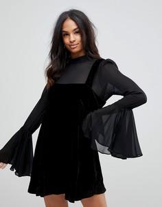 Платье мини Free People - Черный