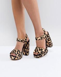 Кожаные сандалии на платформе ASOS HIDDEN GEM Premium - Мульти