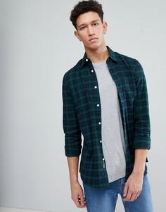 Фланелевая рубашка в клетку Threadbare - Зеленый