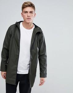Прорезиненная куртка-дождевик Brave Soul - Зеленый