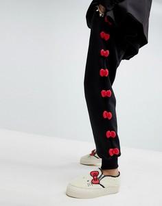 Джоггеры с бантиками Hello Kitty X ASOS - Черный