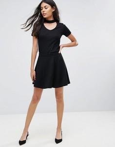 Короткая приталенная юбка JDY Kicki - Черный