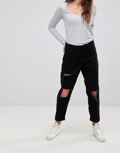 Рваные джинсы бойфренда Waven Aki - Черный
