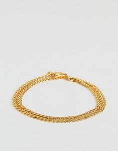 Золотистый браслет Mister Esquire - Золотой