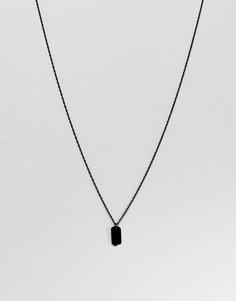 Черное ожерелье с армейским жетоном Mister - Черный