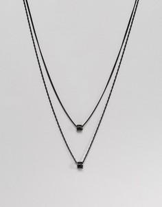 Черное ожерелье Mister - Черный