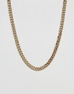 Золотистая цепочка с крупными звеньями Mister - Золотой