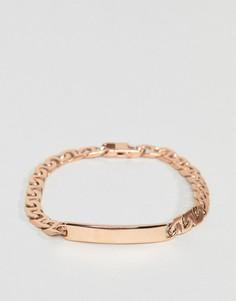 Золотисто-розовый браслет Mister - Золотой