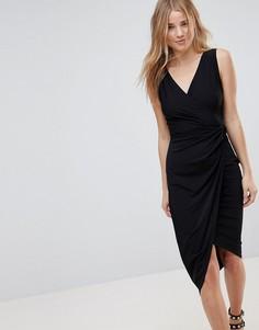 Платье миди с запахом Wal G - Черный
