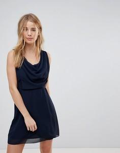 Платье с драпировкой спереди Wal G - Темно-синий