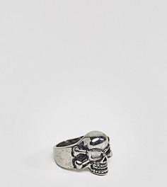 Серебристое кольцо с черепом Reclaimed Vintage эксклюзивно для ASOS - Серебряный