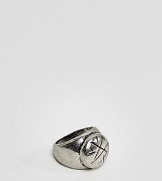 Серебристое кольцо-печатка Reclaimed Vintage Inspired эксклюзивно для ASOS - Серебряный