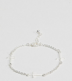 Серебристый браслет-цепочка с крестами Reclaimed Vintage эксклюзивно для ASOS - Серебряный