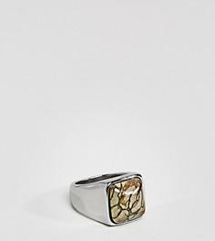 Серебристое кольцо-печатка с камнем Reclaimed Vintage эксклюзивно для ASOS - Серебряный