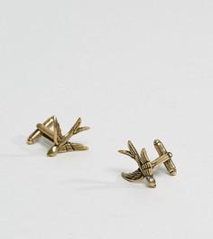 Золотистые запонки Reclaimed Vintage Inspired эксклюзивно для ASOS - Золотой