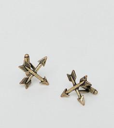 Золотистые запонки в виде стрелы Reclaimed Vintage эксклюзивно для ASOS - Золотой