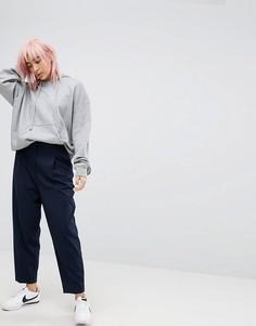 Суженные брюки Weekday - Темно-синий