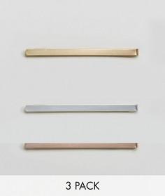 Набор из 3 зажимов для галстука DesignB эксклюзивно для ASOS - Мульти