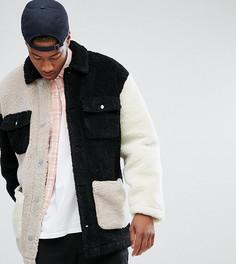 Куртка из искусственного меха ASOS TALL - Бежевый