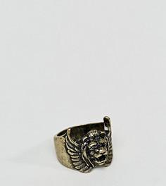 Золотистое кольцо со львом ASOS PLUS - Золотой