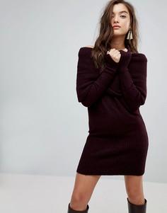 Платье-джемпер с широким вырезом River Island - Красный