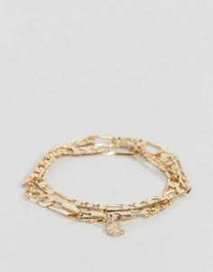 Золотистый браслет в два оборота Chained & Able Royal Figaro - Золотой