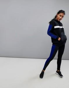 Черные спортивные леггинсы с синей полосой South Beach - Мульти