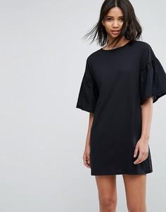 Платье А-силуэта с расклешенными рукавами Vero Moda - Черный