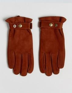 Перчатки из нубука Dents Wells - Рыжий