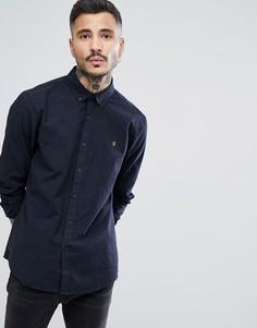 Темно-синяя оксфордская рубашка узкого кроя Farah Steen - Темно-синий